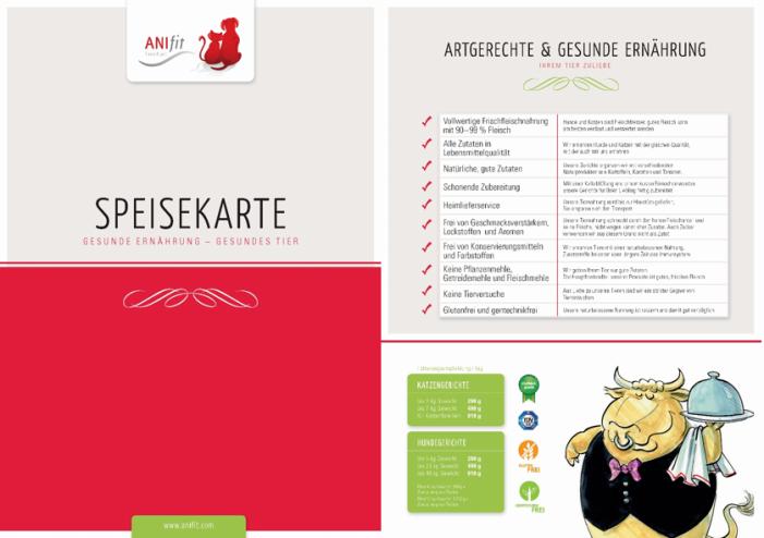 Anifit Speisekarten (5 Stück)